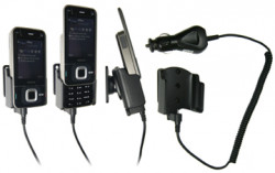 Support voiture  Brodit Nokia N81  avec chargeur allume cigare - Avec rotule orientable. Réf 965179