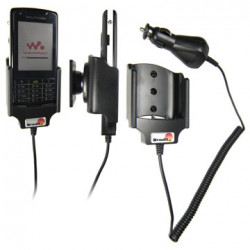 Support voiture  Brodit Sony Ericsson W960i  avec chargeur allume cigare - Avec rotule orientable. Réf 965201