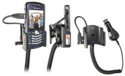 Support voiture  Brodit BlackBerry Pearl 8110  avec chargeur allume cigare - Avec rotule orientable. Réf 965206