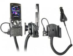 Support voiture  Brodit Samsung SGH-G600  avec chargeur allume cigare - Avec rotule orientable. Réf 965216