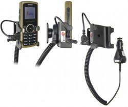 Support voiture  Brodit Samsung SGH-M110  avec chargeur allume cigare - Avec rotule orientable. Réf 965222