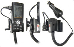 Support voiture  Brodit Samsung SGH-I200  avec chargeur allume cigare - Avec rotule orientable. Réf 965228