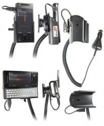 Support voiture  Brodit Sony Ericsson Xperia X1  avec chargeur allume cigare - Avec rotule orientable. Réf 965266