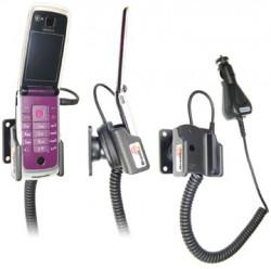 Support voiture  Brodit Nokia 6600 Fold  avec chargeur allume cigare - Avec rotule. Pour position ouverte. Réf 965269