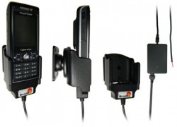 Support voiture  Brodit Sony Ericsson K800i  installation fixe - Avec rotule, connectique Molex. Chargeur 2A. Réf 971095