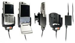 Support voiture  Brodit Sony Ericsson P990i  installation fixe - Avec rotule, connectique Molex. Chargeur 2A. Réf 971099