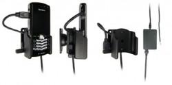 Support voiture  Brodit BlackBerry Pearl 8100  installation fixe - Avec rotule, connectique Molex. Chargeur 2A. Réf 971114