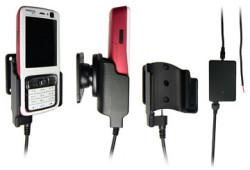 Support voiture  Brodit Nokia N73  installation fixe - Avec rotule, connectique Molex. Chargeur 2A. Réf 971120