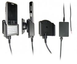 Support voiture  Brodit Nokia 6300  installation fixe - Avec rotule, connectique Molex. Chargeur 2A. Réf 971131