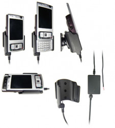 Support voiture  Brodit Nokia N95 4GB  installation fixe - Avec rotule, connectique Molex. Chargeur 2A. Réf 971156