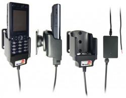 Support voiture  Brodit Sony Ericsson K810i  installation fixe - Avec rotule, connectique Molex. Chargeur 2A. Réf 971163
