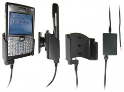 Support voiture  Brodit Nokia E61i  installation fixe - Avec rotule, connectique Molex. Chargeur 2A. Réf 971170