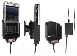 Support voiture  Brodit Sony Ericsson P1i  installation fixe - Avec rotule, connectique Molex. Chargeur 2A. Réf 971171