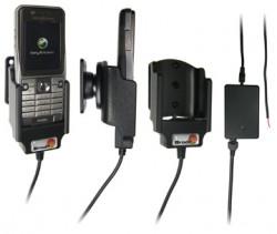 Support voiture  Brodit Sony Ericsson K530i  installation fixe - Avec rotule, connectique Molex. Chargeur 2A. Réf 971174