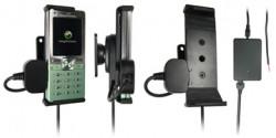 Support voiture  Brodit Sony Ericsson T650i  installation fixe - Avec rotule, connectique Molex. Chargeur 2A. Réf 971175