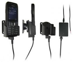 Support voiture  Brodit Nokia E51  installation fixe - Avec rotule, connectique Molex, chargeur 2A. Réf 971180