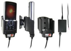 Support voiture  Brodit Sony Ericsson K850i  installation fixe - Avec rotule, connectique Molex, chargeur 2A. Réf 971183
