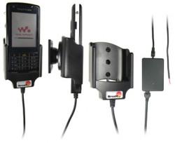 Support voiture  Brodit Sony Ericsson W960i  installation fixe - Avec rotule, connectique Molex. Chargeur 2A. Réf 971201