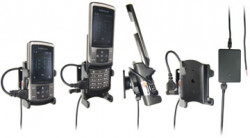Support voiture  Brodit Samsung SGH-U900  installation fixe - Avec rotule, connectique Molex. Chargeur 2A. Réf 971236