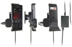 Support voiture  Brodit Sony Ericsson C902  installation fixe - Avec rotule, connectique Molex. Chargeur 2A. Réf 971241
