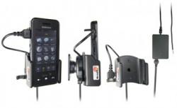 Support voiture  Brodit Samsung Instinct  installation fixe - Avec rotule, connectique Molex. Chargeur 2A. Réf 971248