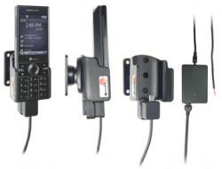 Support voiture  Brodit HTC S740  installation fixe - Avec rotule, connectique Molex. Chargeur 2A. Pour un montant position fermée. Réf 971273