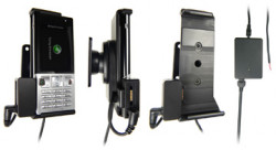 Support voiture  Brodit Sony Ericsson T700  installation fixe - Avec rotule, connectique Molex. Chargeur 2A et Pass-Through Connector pour la connectivité casque. Réf 971279
