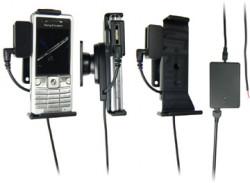 Support voiture  Brodit Sony Ericsson C510  installation fixe - Avec rotule, connectique Molex. Chargeur 2A et Pass-Through Connector pour la connectivité casque. Réf 971299