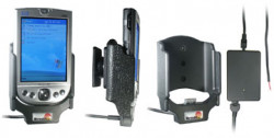 Support voiture  Brodit HP iPAQ h41xx  installation fixe - Avec rotule, connectique Molex pour le GPS et le transfert de données. Chargeur 2A. Réf 971591
