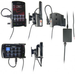 Support voiture  Brodit BlackBerry Storm  installation fixe - Avec rotule, connectique Molex. Chargeur 2A. Réf 971875