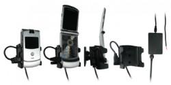 Support voiture  Brodit Motorola RAZR V3  installation fixe - Avec rotule, connectique Molex. Chargeur 2A. Réf 971968