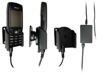 Support voiture  Brodit Nokia E50  installation fixe - Avec rotule, connectique Molex. Chargeur 2A. Réf 971132