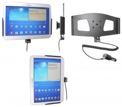 Support voiture  Brodit Samsung Galaxy Tab 3 10.1 GT-P5200  avec chargeur allume cigare - Avec rotule orientable. Réf 512549