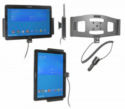 Support voiture  Brodit Samsung Galaxy Tab PRO 10.1 LTE SM-T525  avec chargeur allume cigare - Avec rotule orientable. Réf 512608