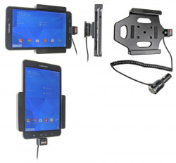 Support voiture  Brodit Samsung Galaxy Tab 4 7.0 SM-T230  avec chargeur allume cigare - Avec rotule. Réf 512636