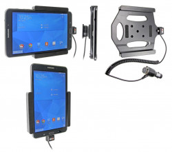Support voiture  Brodit Samsung Galaxy Tab 4 8.0 SM-T335  avec chargeur allume cigare - Avec rotule. Réf 512637