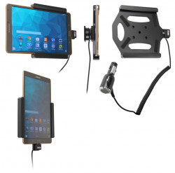 Support voiture  Brodit Samsung Galaxy Tab S 8.4 SM-T700  avec chargeur allume cigare - Avec rotule. Réf 512652