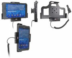 Support voiture Brodit Samsung Galaxy Tab Active 8.0 SM-T365  avec chargeur allume cigare - Convient appareils avec étui d'origine. Avec rotule. Réf 512697