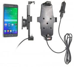 Support voiture  Brodit Samsung Galaxy Alpha  avec chargeur allume cigare - Avec rotule. Avec câble USB. Convient appareils avec étui. Réf 521659