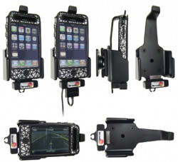 Support voiture  Brodit Apple iPhone 3G  avec réplicateur de port - Pour une position verticale et horizontale plus sûr. Fixation réglable, convient dispositifs avec des étui. Réf 516042
