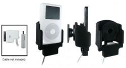 Support voiture  Brodit Apple iPod 3rd Generation 10 GB  pour fixation cable - Pour le câble Belkin. Avec rotule. Avec revêtement &quot