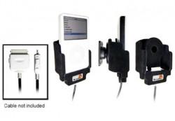 Support voiture  Brodit Apple iPod 3rd Generation 10 GB  pour fixation cable - Pour le câble USA / STEC. Avec rotule. Avec revêtement &quot