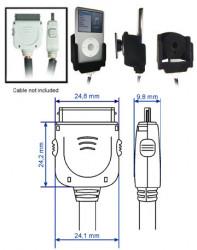 Support voiture  Brodit Apple iPod 2nd Generation 20 GB  pour fixation cable - Pour le câble d'extension. Surface &quot