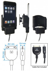 Support voiture  Brodit Apple iPod Touch  pour fixation cable - Pour le câble Monster. Surface &quot