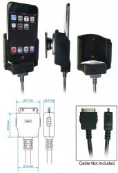 Support voiture  Brodit Apple iPod Touch  pour fixation cable - Pour câble après-marché. Avec rotule. Surface &quot