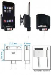 Support voiture  Brodit Apple iPod Touch  pour fixation cable - Pour câble composite AV Apple. Avec rotule. Avec revêtement &quot