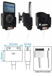 Support voiture  Brodit Apple iPod 3rd Generation 10 GB  pour fixation cable - Pour câble AV. Avec rotule. Avec revêtement &quot