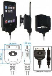 Support voiture  Brodit Apple iPod Touch  pour fixation cable - Pour charger le câble de style de câble et Neo Prolink. Réf 840801
