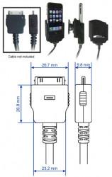 Support voiture  Brodit Apple iPhone 2G  pour fixation cable - Pour câble après-marché. Avec rotule. Avec revêtement &quot