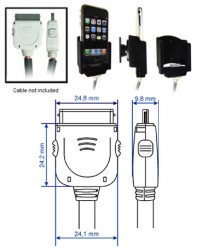 Support voiture  Brodit Apple iPhone 2G  pour fixation cable - Pour le câble d'extension. Surface &quot
